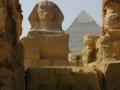 Sphinx und Chephrenpyramide Gizeh